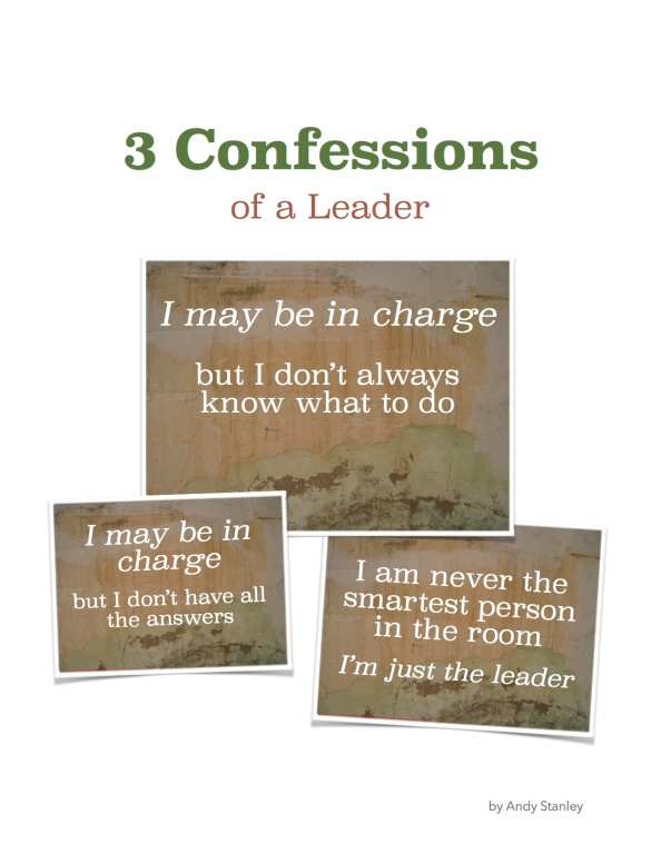 3 Leadership Confessions